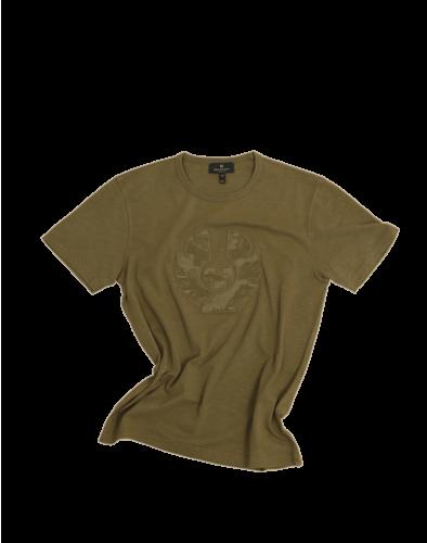 Belstaff Applique Camo T-Shirt Man, salvia