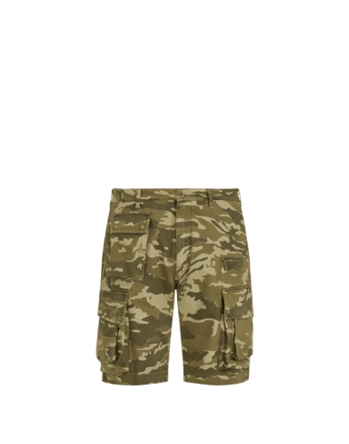 Belstaff Castmaster Camo Shorts, military olive