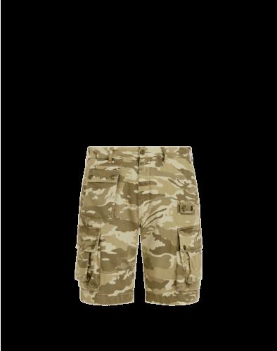 Belstaff Castmaster Camo Shorts, tarp
