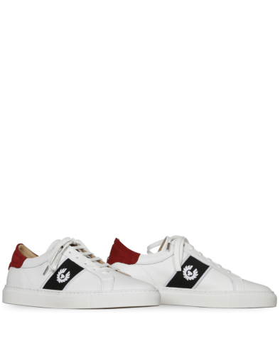 Belstaff Sneaker Dagenham Phoenix für Damen, white red (front)