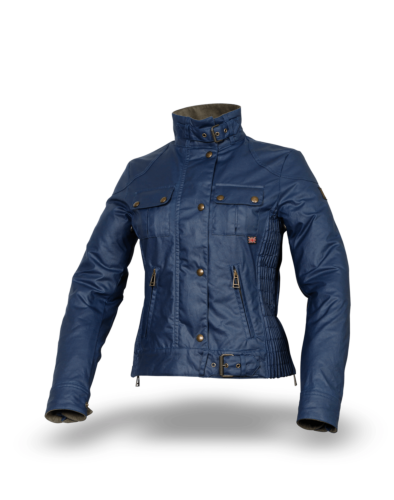 Belstaff Gangster Wax Ladies' Jacket, racing blue (front)