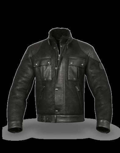 Belstaff Gangster Shearling Jacket Man, black