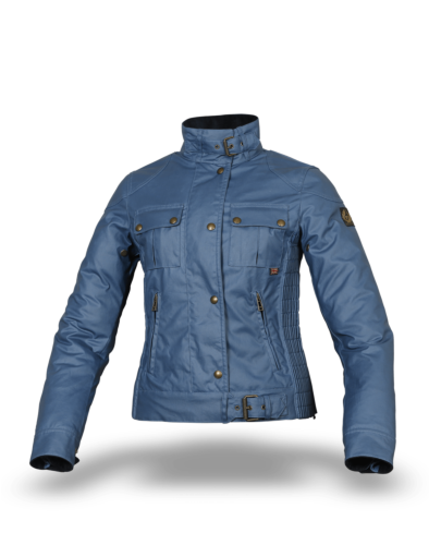 Belstaff Gangster Wax Jacket Lady, airforce blue