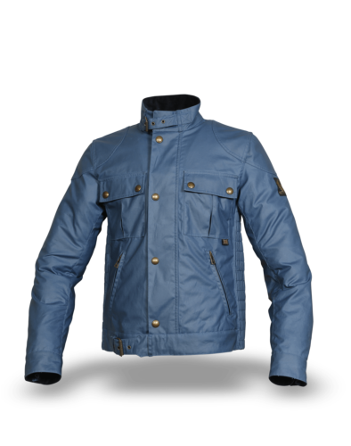 Belstaff Gangster Wax Jacket Man, airforce blue