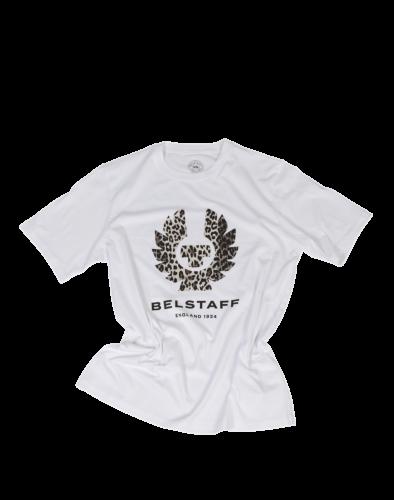 Belstaff Leopard Print T-Shirt Lady, white