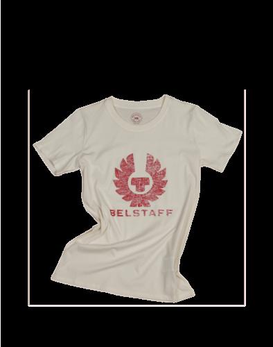 Belstaff Mariola Phoenix T-Shirt für Damen, Off White/Belstaff Red