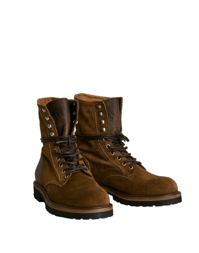 Belstaff Marshall Lace Up Boot Man, tobacco