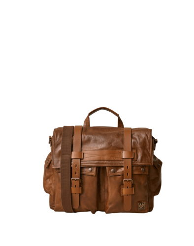 Belstaff Colonial Messenger Shoulder Bag, cognac (front)