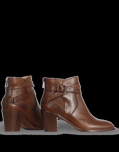 Belstaff Trialmaster Heeled Buckle Lady Boot, cognac
