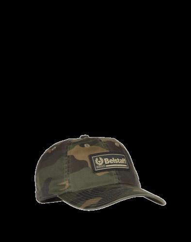 Belstaff Weekender Baseball Cap, camo green