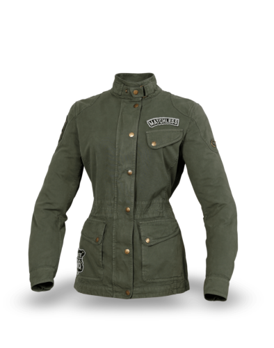 Matchless Miss Diana Patch Jacket Lady, military green