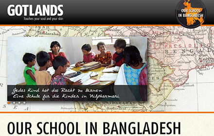 Website for our first school in Bangladesh